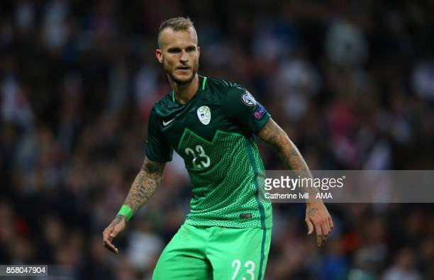 Aljaz Struna of Slovenia during the FIFA 2018 World Cup Qualifier between England and Slovenia at Wembley Stadium on October 5 2017 in London England