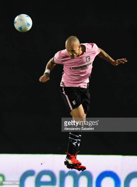 Aljaz Struna of US Citta di Palermo in action during the Serie B match between FC Carpi and US Citta di Palermo on October 24 2017 in Carpi Italy