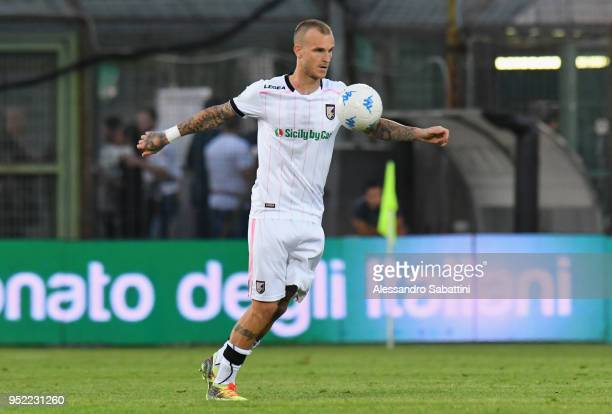 Aljaz Struna of US Citta di Palermo in action during the serie B match between Venezia FC and US Citta di Palermo at Stadio Pier Luigi Penzo on April...