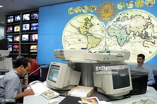 AlJazeera staff work at the satellite channel's headquarters in the Qatari capital Doha 10 October 2001 US Secretary of State Colin Powell said...