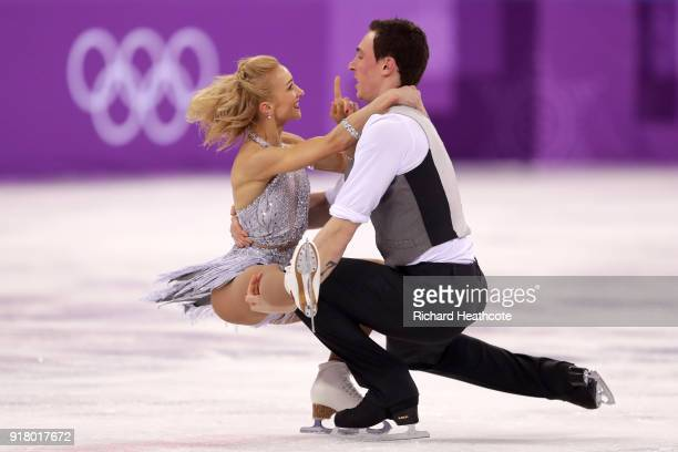 Aljona Savchenko and Bruno Massot of Germany compete during the Pair Skating Short Program on day five of the PyeongChang 2018 Winter Olympics at...