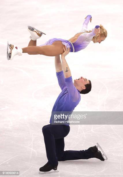Aljona Savchenko and Bruno Massot of Germany compete during the Pair Skating Free Skating at Gangneung Ice Arena on February 15 2018 in Gangneung...