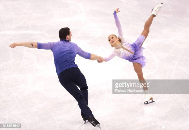Aljona Savchenko and Bruno Massot of Germany compete during the Pair Skating Free Skating at Gangneung Ice Arena on February 15, 2018 in Gangneung,...
