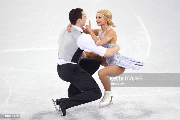 Aljona Savchenko and Bruno Massot of Germany compete in the Figure Skating Team Event Pair Skating Short Program during the PyeongChang 2018 Winter...