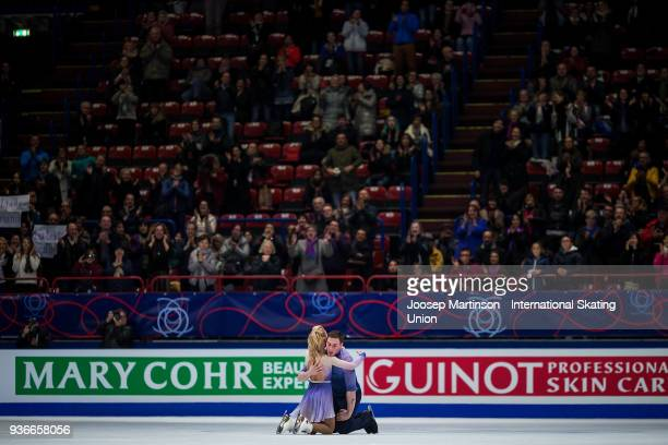 Aljona Savchenko and Bruno Massot of Germany compete in the Pairs Free Skating during day two of the World Figure Skating Championships at Mediolanum...