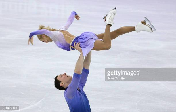 Aljona Savchenko and Bruno Massot of Germany during the Figure Skating Pair Skating Free Program on day six of the PyeongChang 2018 Winter Olympic...