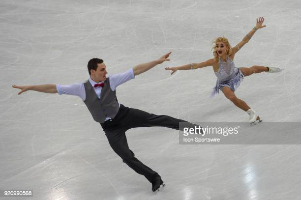 Aljona Savchenko and Bruno Massot perform during the Pairs Short Program during the 2018 Winter Olympic Games at Gangneung Ice Arena on February 14...