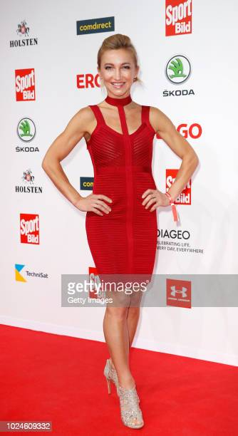 Aljona Savchenko attends the Sport Bild Award on August 27 2018 in Hamburg Germany