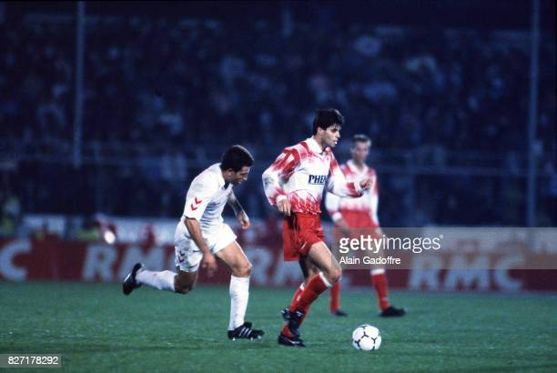 Aljosa Asanovic of Cannes during the UEFA Cup match between AS Cannes and Salgueiros on October 3rd 1991