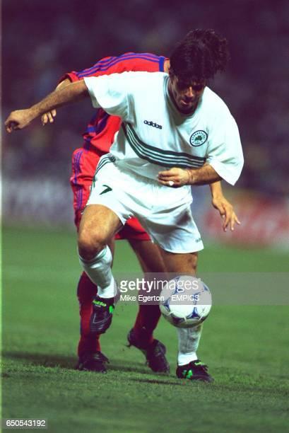 Aljosa Asanovic of Panathinaikos controls the ball under pressure