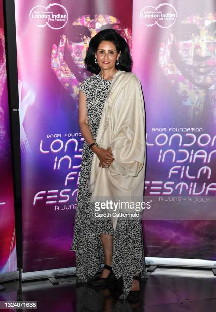 """Alka Bagri attends """"WOMB """" Screening and Opening Gala during London Indian Film Festival 2021 at BFI Southbank on June 17, 2021 in London, England."""