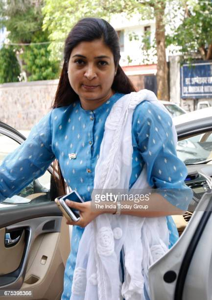 Alka Lamba visits CM residence after MCD election results in New Delhi