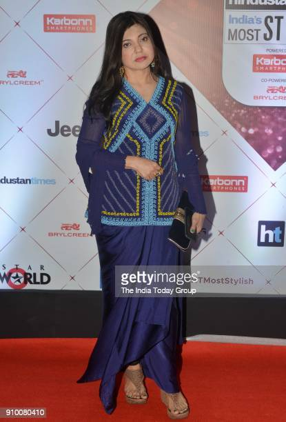 Alka Yagnik arrives at the HT Indias Most Stylish Awards 2018 in Mumbai
