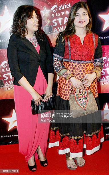 Alka Yagnik at Airtel Star Super Star Awards at Yashraj Studio on Tuesday 15th November 2011