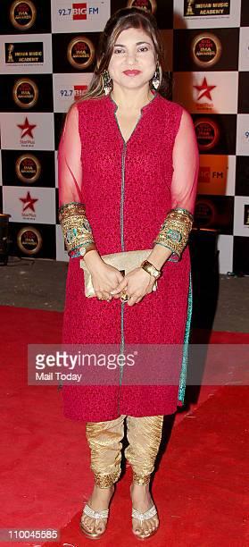Alka Yagnik at Big Star Indian Music Academy Awards 2011 in Mumbai