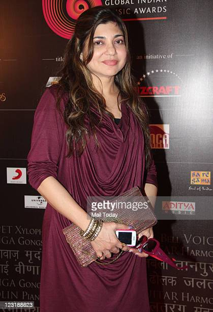 Alka Yagnik at GIMA Awards 2011 voting meet in Mumbai on Tuesday August 30 2011