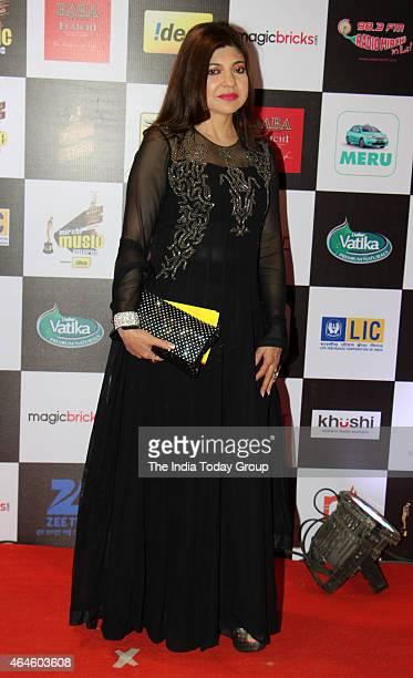 Alka Yagnik at Mirchi music awards in Mumbai
