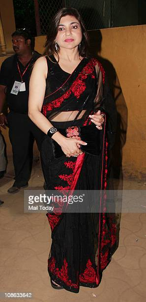 Alka Yagnik at the 56th Idea Filmfare Awards at Yashraj Studios in Mumbai