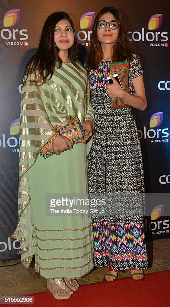 Alka Yagnik at the annual party by Colors Tv in Mumbai