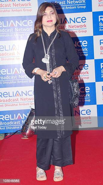 Alka Yagnik at the launch party of Reliance Broadcast Network Limited in Mumbai on August 20 2010