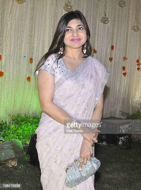 Alka Yagnik during actor Vivek Oberoi's wedding reception in Mumbai on October 31 2010