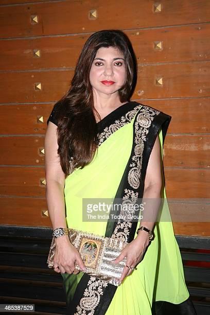 Alka Yagnik during Filmfare awards 2013 in Mumbai