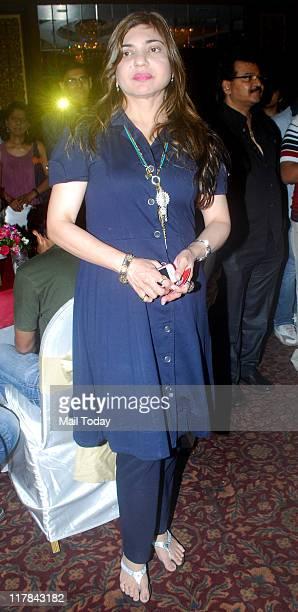 Alka Yagnik during the birthday bash of Sudesh Bhosle at Sea Princess in Mumbai