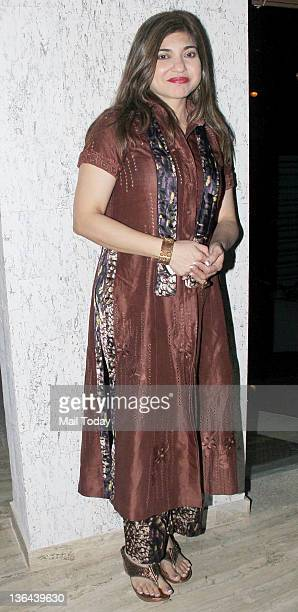 Alka Yagnik during the launch of Mangiamo restaurant at Bandra in Mumbai on Tuesday