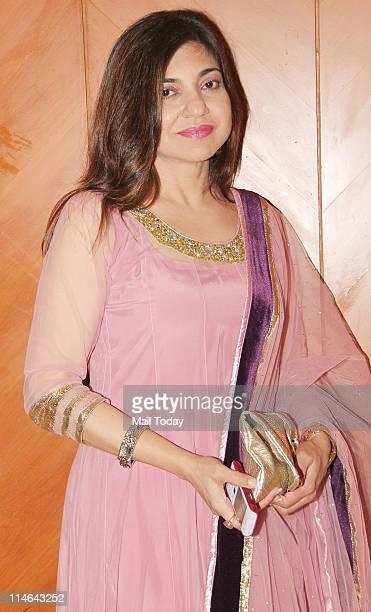 Alka Yagnik during the press meet of 'Sa Re Ga Ma' Lil Champs at JW Marriott in Mumbai