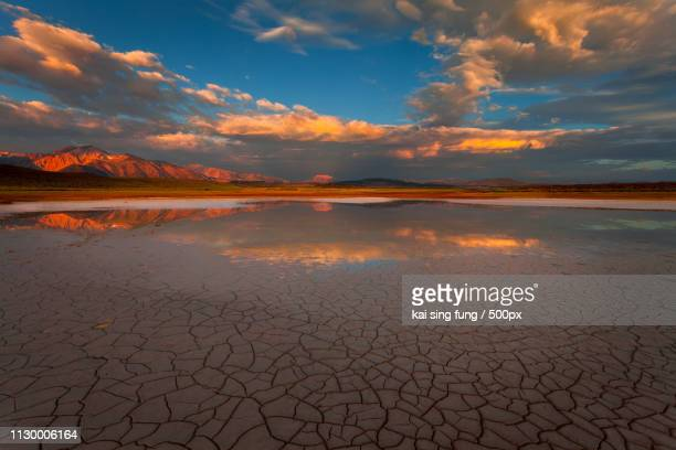 alkaline lake - lake bed stock pictures, royalty-free photos & images