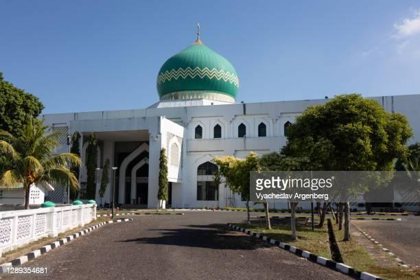 al-kauthar mosque, masjid al-kauthar, tawau, malaysia - argenberg stock-fotos und bilder