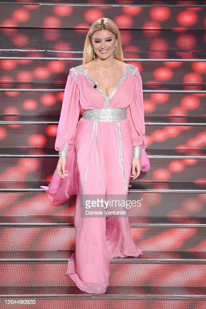 Alketa Vejsiu attends the 70° Festival di Sanremo at Teatro Ariston on February 06 2020 in Sanremo Italy