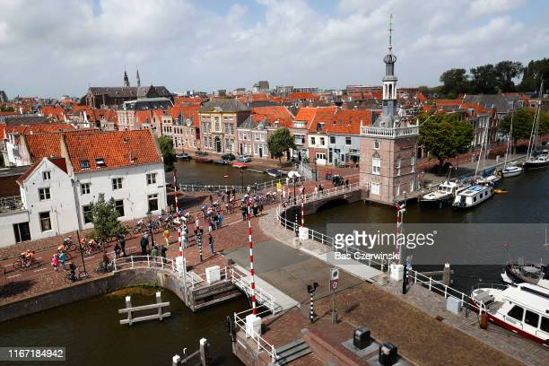Alkmaar City / Boat / Peloton / Landscape / during the 25th UEC Road European Championships 2019, Elite Women's Road Race a 115km race from Alkmaar...