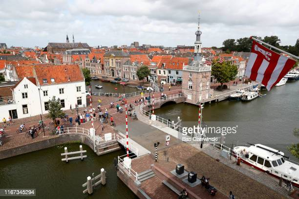 Alkmaar City / Peloton / Fans / Public / Landscape / during the 25th UEC Road European Championships 2019 Elite Men's Road Race a 1726km race from...