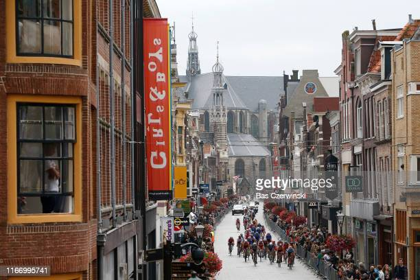 Alkmaar City / Peloton / Landscape / Fans / Public / during the 25th UEC Road European Championships 2019 - U23 Women's Road Race a 92km race from...