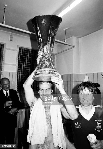 AZ Alkmaar v Ipswich Town 2nd leg match of UEFA Cup Final at the Olympic Stadium in Amsterdam May 1981 Mick Mills Final score AZ Alkmaar 42 Ipswich...