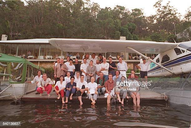 Past and present staff gathered when Gay Bilson sold Berowra Waters in 1995 BEROWRA WATERS BEROWRA WATERS PIC BY JENNIFER SOO SMH GOOD LIVINGTHE CREW...
