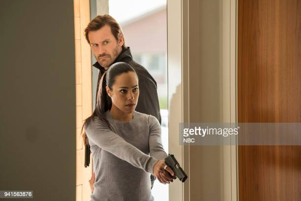 """All About Eve"""" Episode 206 -- Pictured: Clive Standen as Bryan Mills, Jessica Camacho as Santana --"""