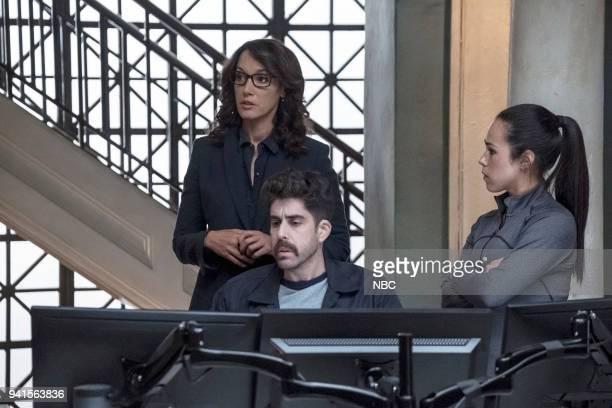 "All About Eve"" Episode 206 -- Pictured: Jennifer Beals as Christina Hart, Adam Goldberg as Kilroy, Jessica Camacho as Santana --"