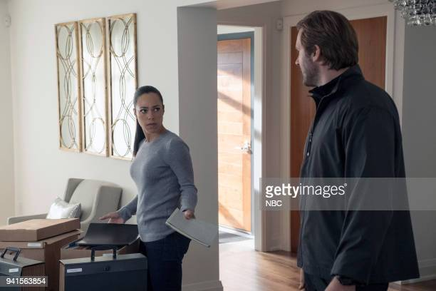 """All About Eve"""" Episode 206 -- Pictured: Jessica Camacho as Santana, Clive Standen as Bryan Mills --"""