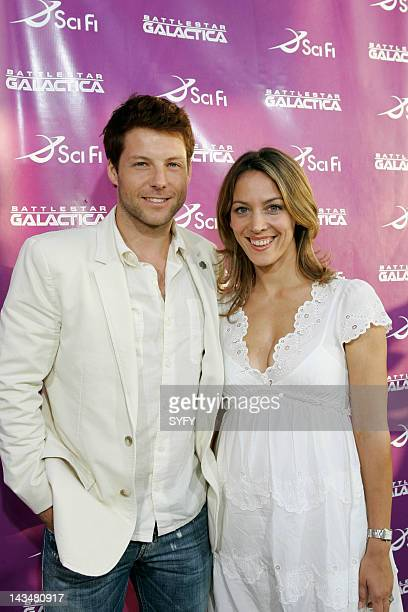 GALACTICA All Access Event SCI FI Channel Pictured Jamie Bamber and Kerry Norton arrive at the ArcLight Theater in Hollywood Ca on June 6 2007