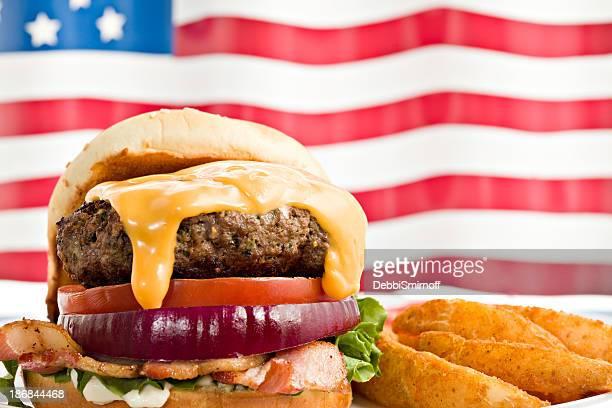 すべての米国ベーコンチーズバーガー
