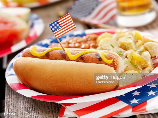 All American Hotdog and a Beer