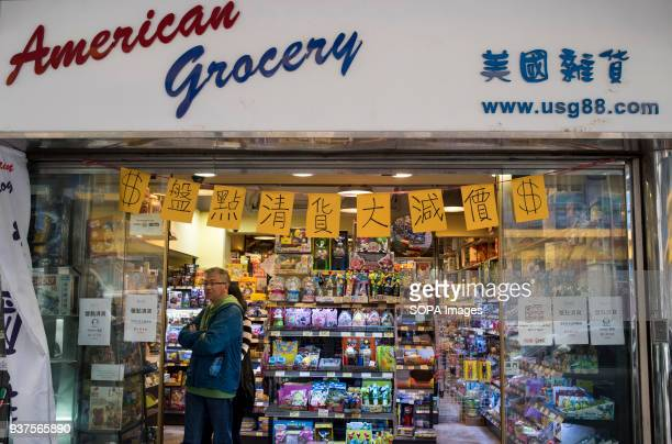 All American imported products food store in Hong Kong As United State president Donald Trump signed the bill to increase the trade tariff against...