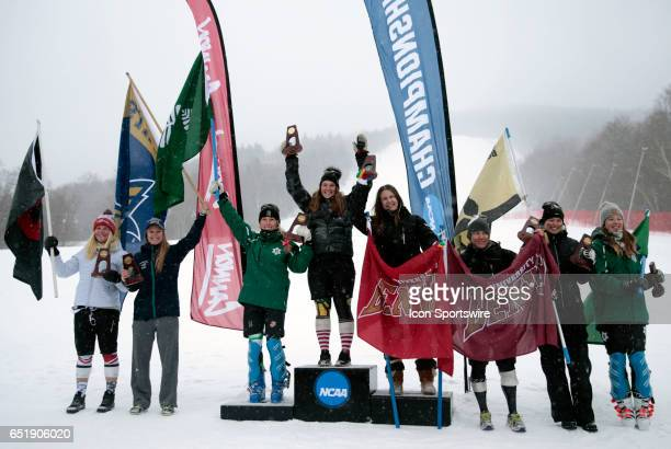 Utah's Roni Remme Montana State's Benedicte Lyche Bronze medalist Dartmouth's Foreste Peterson Gold medalist Vermont's Paula Moltzan Silver medalist...