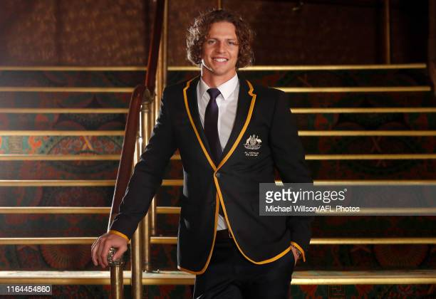 All Australian Captain Nat Fyfe poses for a photograph during the 2019 Virgin Australia All Australian Awards at the Palais Theatre on August 28 2019...