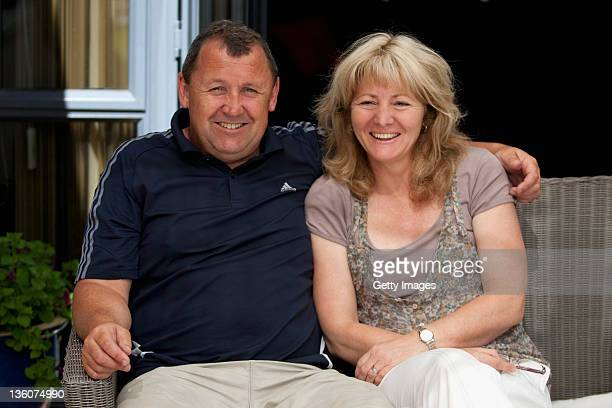 All Black Assistant Coach Ian Foster poses with his wife Leigh at his home on December 23 2011 in Hamilton New Zealand The New Zealand Rugby Union...
