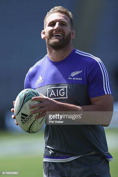 All Black captain Kieran Read during the New Zealand All Blacks Captain's Run at Eden Park on October 21 2016 in Auckland New Zealand