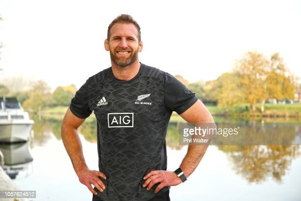 All Black captain Kieran Read poses for a portrait alongside the Thames River during a New Zealand All Blacks portrait session at the Lensbury Hotel...
