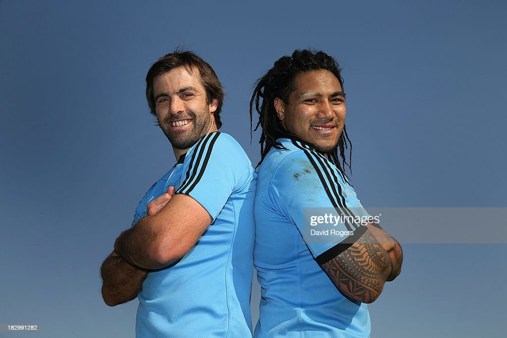 All Black centres Ma'a Nonu (R) and Conrad Smith, who will play their world record 51st Test together in the match against South Africa pose after the New Zealand All Blacks training session held at Wits University on October 3, 2013 in Johannesburg, South Africa.